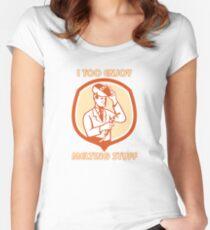 MELTING STUFF WELDER Women's Fitted Scoop T-Shirt