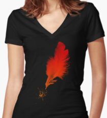 Red Quill Women's Fitted V-Neck T-Shirt