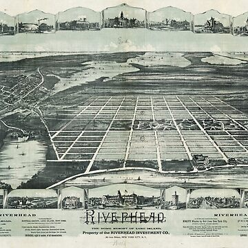 Aerial View of Riverhead, Long Island, New York (1890) by allhistory