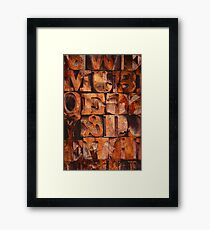 Block Letters Variation 1 Framed Print