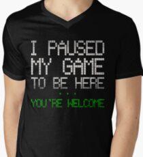 Paused my game Men's V-Neck T-Shirt