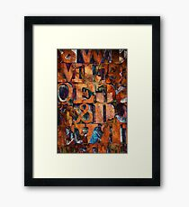 Block Letters Variation 2 Framed Print