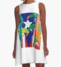 Vejigantes Puerto Rico A-Line Dress