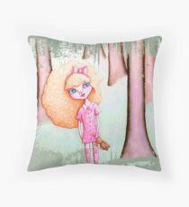 Wandering Goldilocks (Worn, Distressed, Vintage-y Version) Throw Pillow