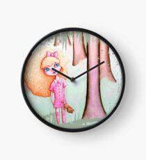 Wandering Goldilocks (Worn, Distressed, Vintage-y Version) Clock