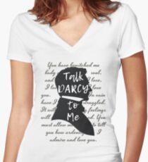 Camiseta entallada de cuello en V Regalo literario, Jane Austen, Amante del libro divertido,