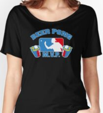 Beer Pong mvp Funny TShirt Epic T-shirt Humor Tees Cool Tee Women's Relaxed Fit T-Shirt