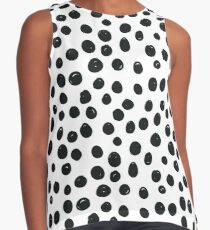 Black and White Spots Contrast Tank