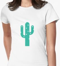 Sparkly Cactus by Suzie London Women's Fitted T-Shirt