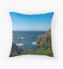 The Cliffs of Sunset Cove Throw Pillow