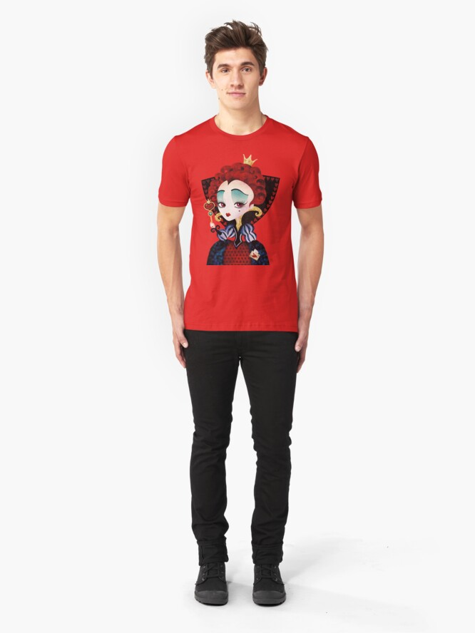 Alternate view of Queen of Hearts Slim Fit T-Shirt