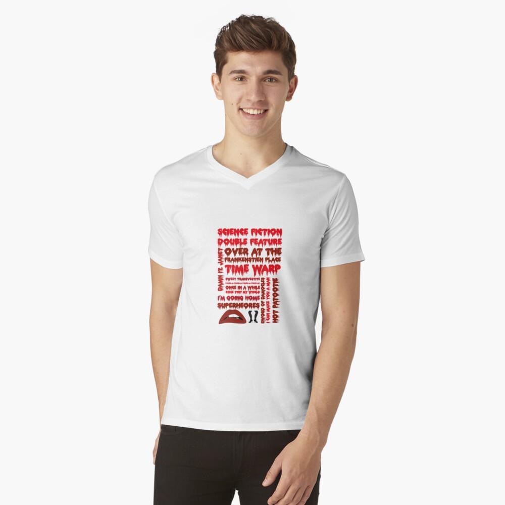 Rocky Horror Picture Show-Canciones Camiseta de cuello en V