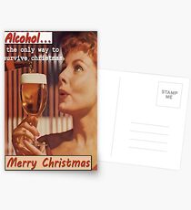 How to survive the christmas period Postcards