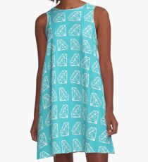 Shine Bright Blue A-Line Dress