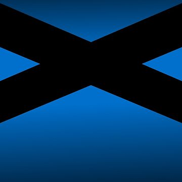 Black Crisscross on Blue by ElaphusHouse