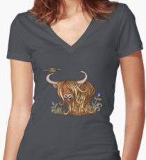 Coo's Lick Women's Fitted V-Neck T-Shirt