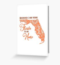 florida is my home Greeting Card