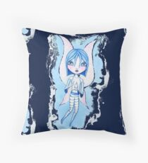 Water Fairy (Blue Version) Throw Pillow