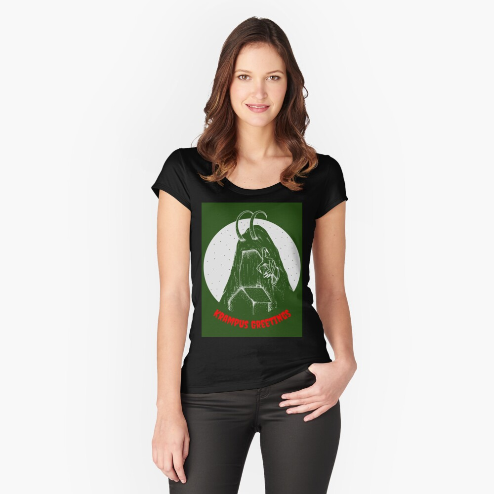 Krampus Women's Fitted Scoop T-Shirt Front