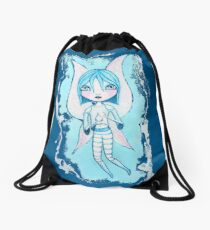 Water Fairy (Cyan Version) Drawstring Bag