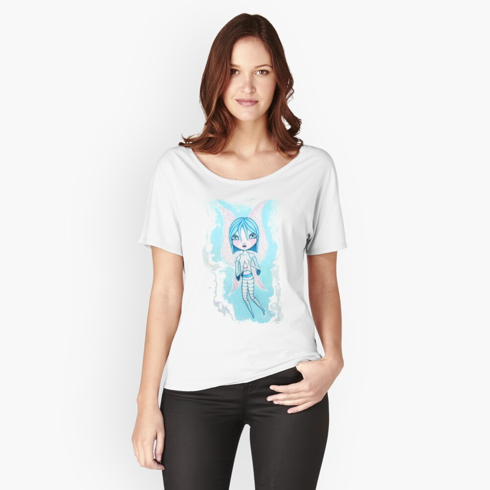 Water Fairy (Cyan Version) Women's Relaxed Fit T-Shirt Front