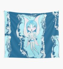 Water Fairy (Cyan Version) Wall Tapestry