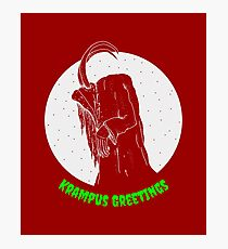 Krampus Red Photographic Print
