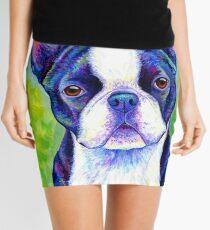 Colorful Boston Terrier Dog Mini Skirt