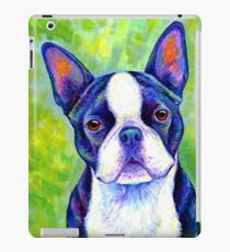 Colorful Boston Terrier Dog iPad Case/Skin