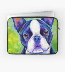 Colorful Boston Terrier Dog Laptop Sleeve