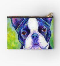 Colorful Boston Terrier Dog Studio Pouch