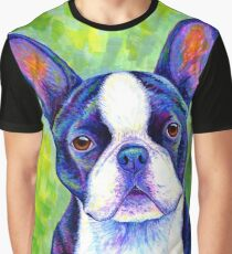 Colorful Boston Terrier Dog Graphic T-Shirt