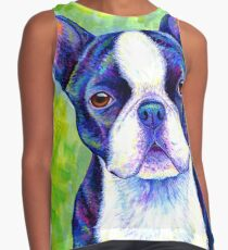 Colorful Boston Terrier Dog Contrast Tank