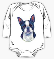 Colorful Boston Terrier Dog One Piece - Long Sleeve