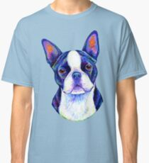 Colorful Boston Terrier Dog Classic T-Shirt