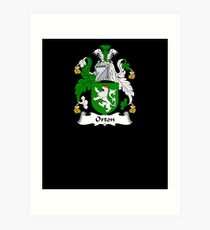 Orton Coat of Arms - Family Crest Shirt Art Print