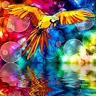 Ararauna (Parrot) on Bokeh by ChiaraLily