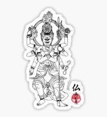 Warrior Buddha Sticker