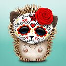 Day of the Dead Sugar Skull Baby Hedgehog by jeff bartels