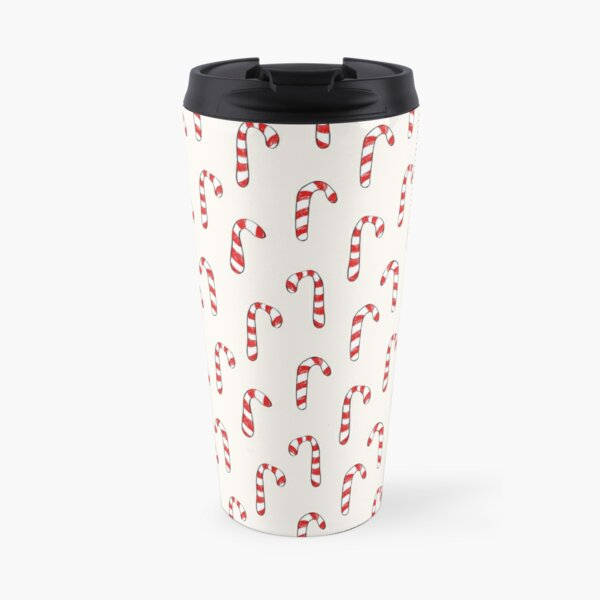 Sketched candy cane repeat pattern Travel Mug