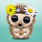 Cute Baby Hedgehog Hippie  by jeff bartels