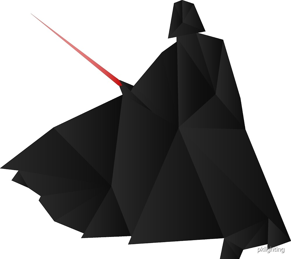 Quot Star Wars Darth Vader Origami Quot By Pklighting Redbubble