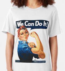 Rosie the Riveter Tshirt Slim Fit T-Shirt