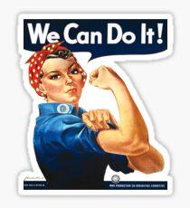 Rosie the Riveter Tshirt Sticker
