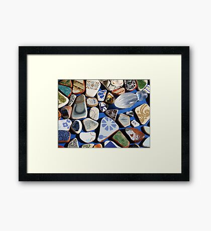 All washed up! (Found treasures from the beach of Trapani, Sicily) Framed Print