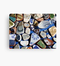 All washed up! (Found treasures from the beach of Trapani, Sicily) Canvas Print