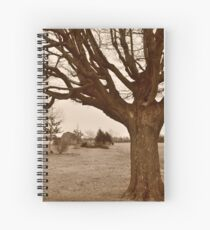 Tree-framed farm scene Spiralblock