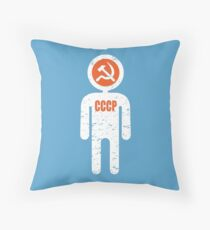 soviet astronaut Throw Pillow