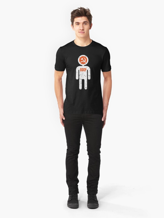 Alternate view of soviet astronaut Slim Fit T-Shirt