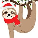 Cute Christmas Sloth by heartlocked